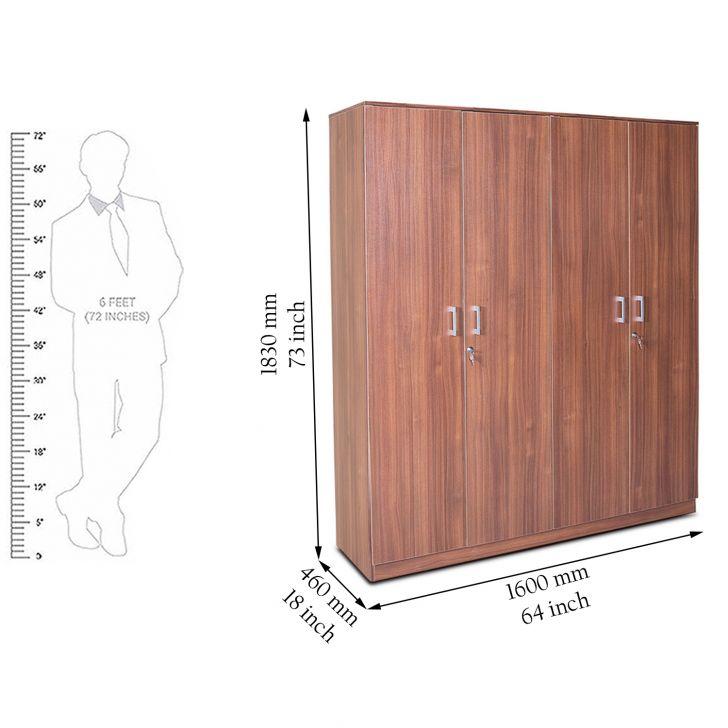 Wilson Four Door Wardrobe Regato Walnut,Furniture