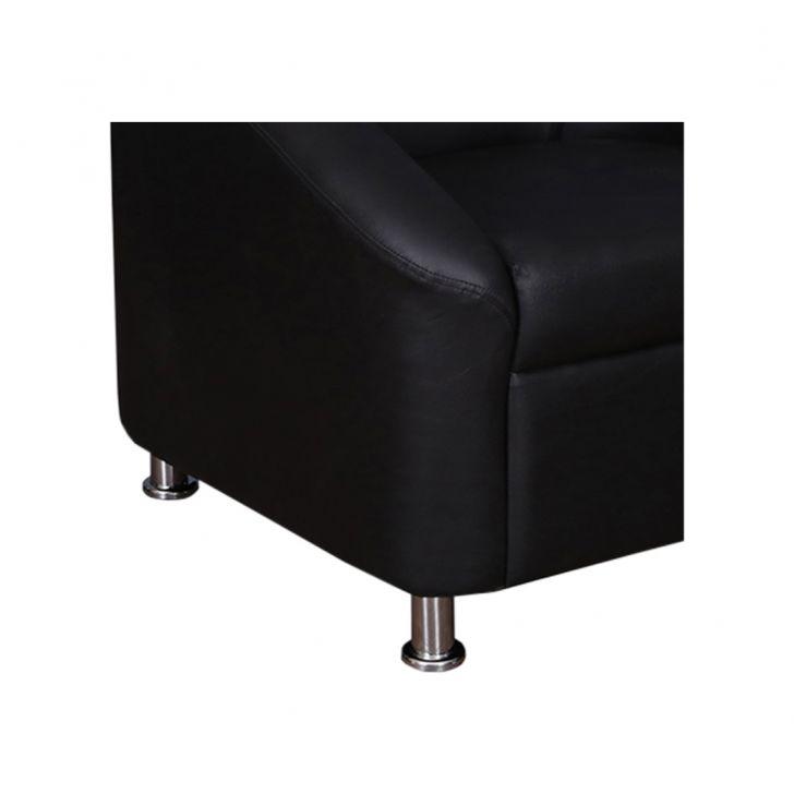 Belfast Leatherette One Seater Sofa Black,Furniture