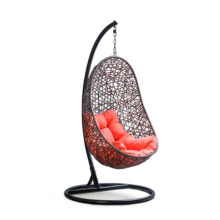 buy begonia swing with brown stand orange cushion online in india ho340fu12qgxindfur www. Black Bedroom Furniture Sets. Home Design Ideas