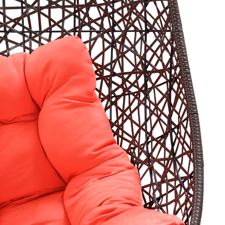 Begonia Swing with Brown Stand & Orange Cushion,Swings