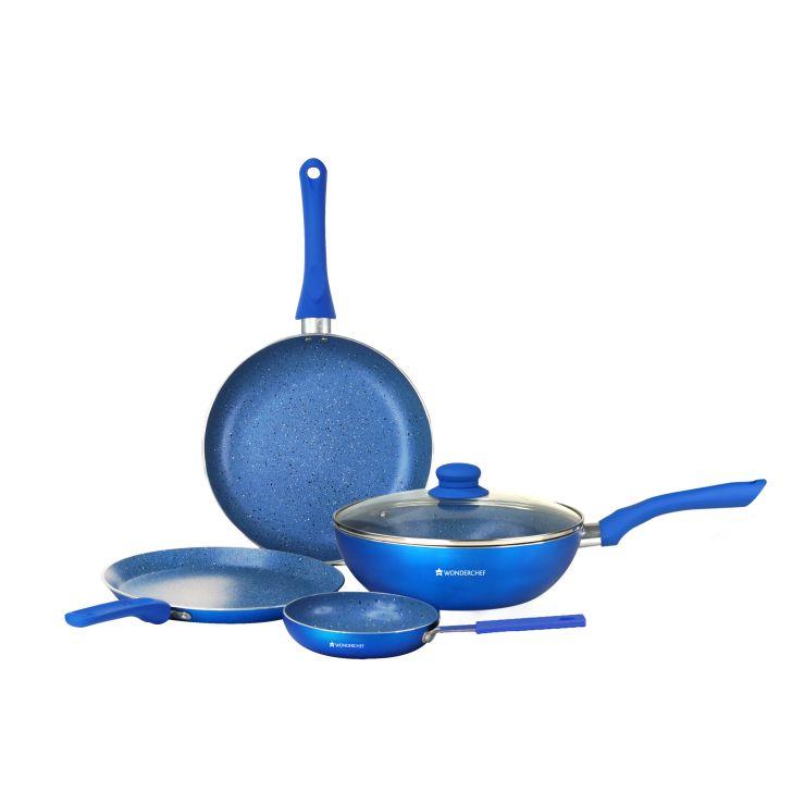 Wonderchef Royal Velvet Blue Cookware Set 5Pc,Kitchenware