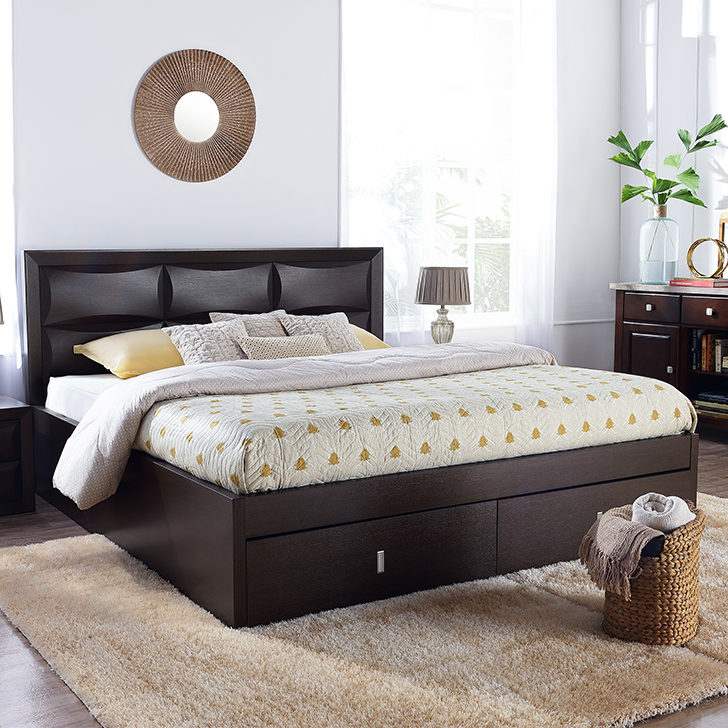 Cambry King Bed With Hydraulic Storage,Hydraulic Beds