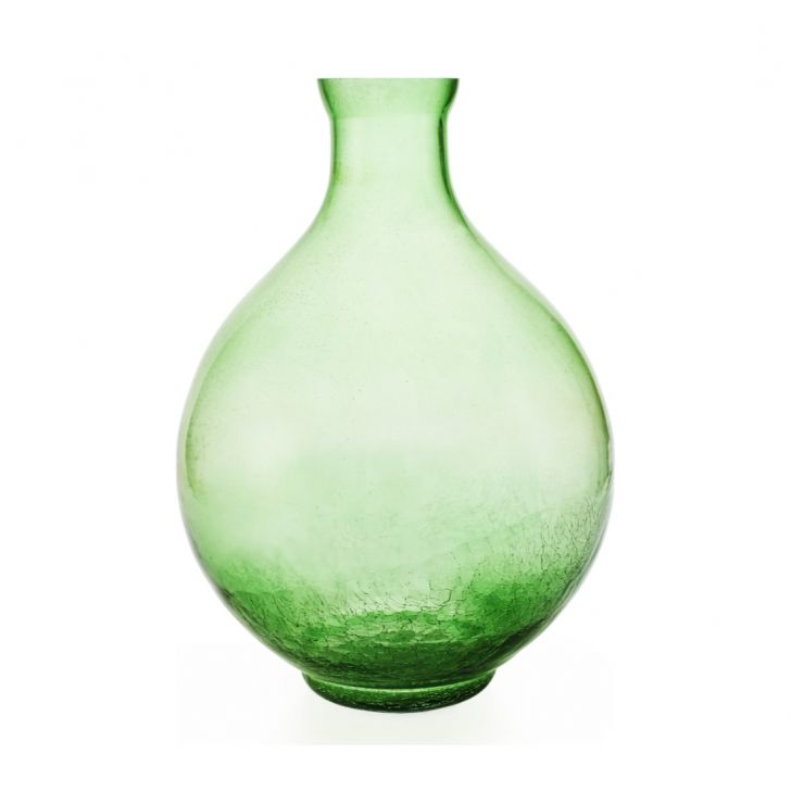 Buy Giana Crackle Vase 20 Cm Small Green Online In India
