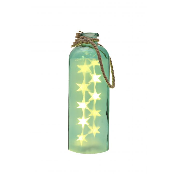 Venus Starlight Cylinder Bottle Teal,Lamps & Lighting