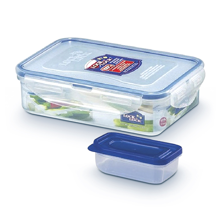 Lock & Lock Classics Rectangular Food Container with Sauce Case 550 ml,Containers