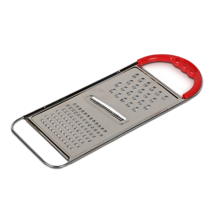 Living Essence Stainless Steel Flat Grater Silver And Red,Cooking Essentials