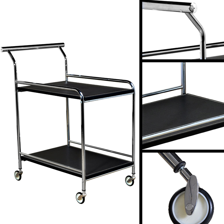 Cyprus Serving Trolley in Black Colour,Bar Trolleys