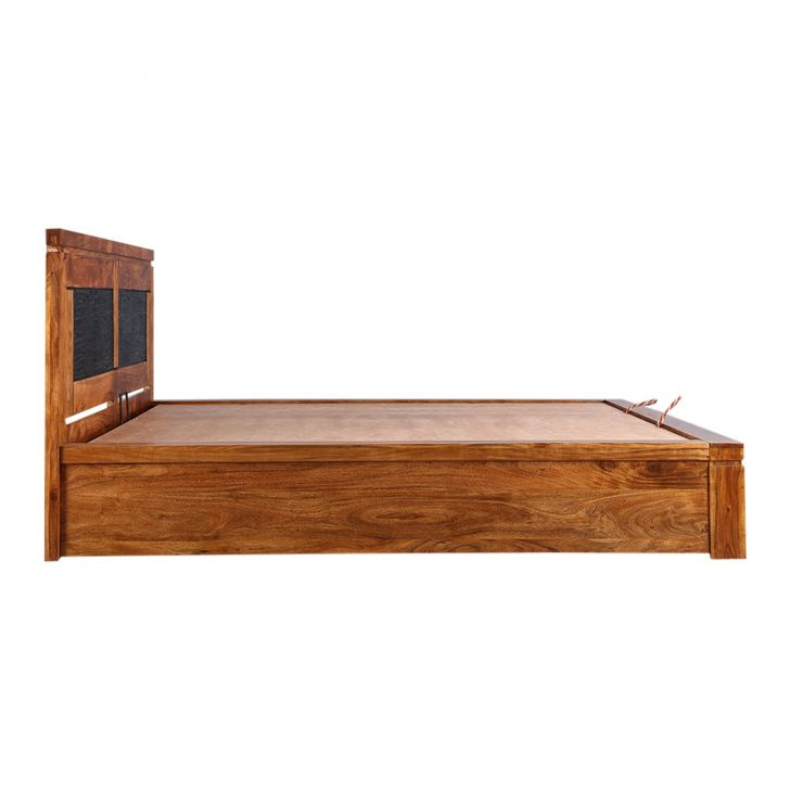 Leopold Solidwood King Bed Wth Hydraulic Storage,Furniture