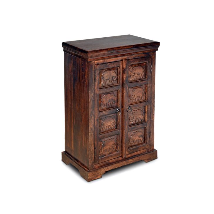 Tuskar Solidwood Cabinet in Walnut Finish,Kitchen Cabinets