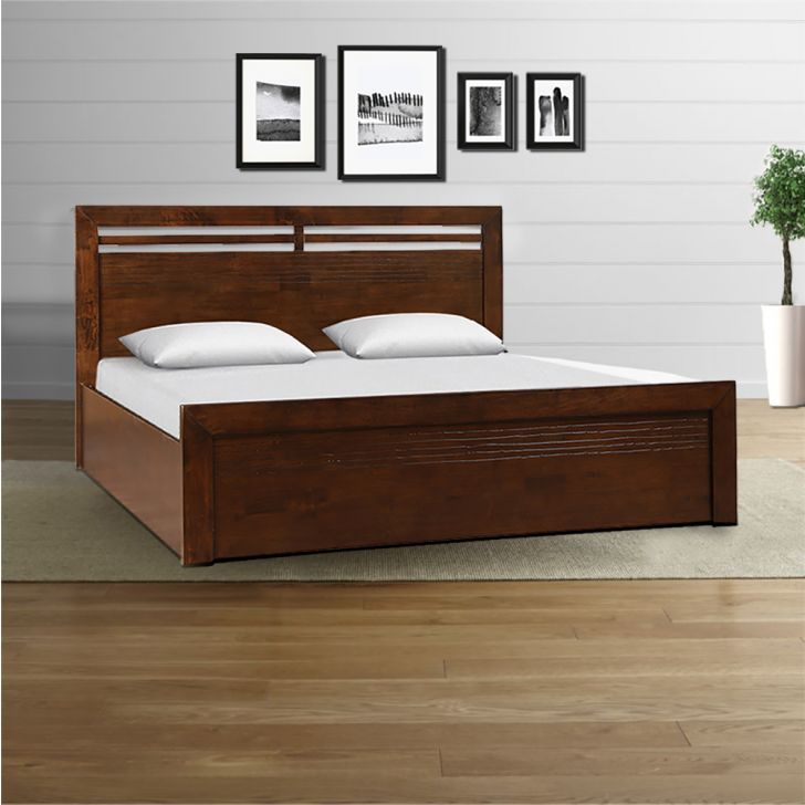 Stanford Solidwood King Bed Wth Hydraulic Storage,All Beds