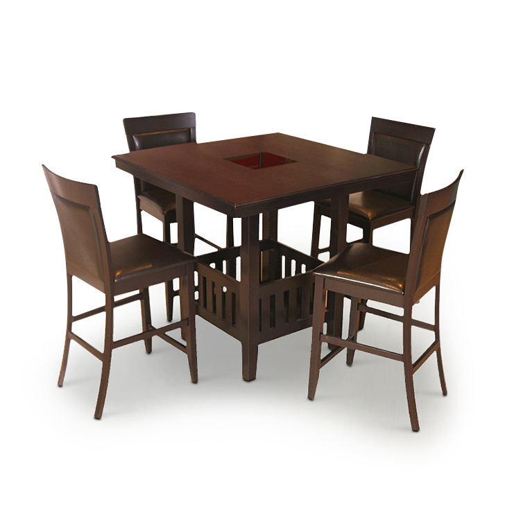 Caren Four Seater Dining Set Wenge,4 Seater Dining Sets