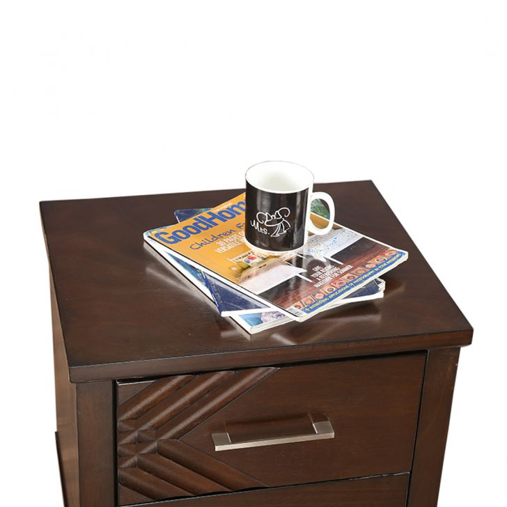Bavaria Bedside Table in Walnut Finish,Bedside Tables