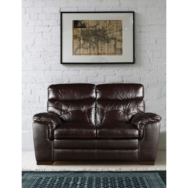 Bradley Half Leather Two Seater Sofa,All Sofas
