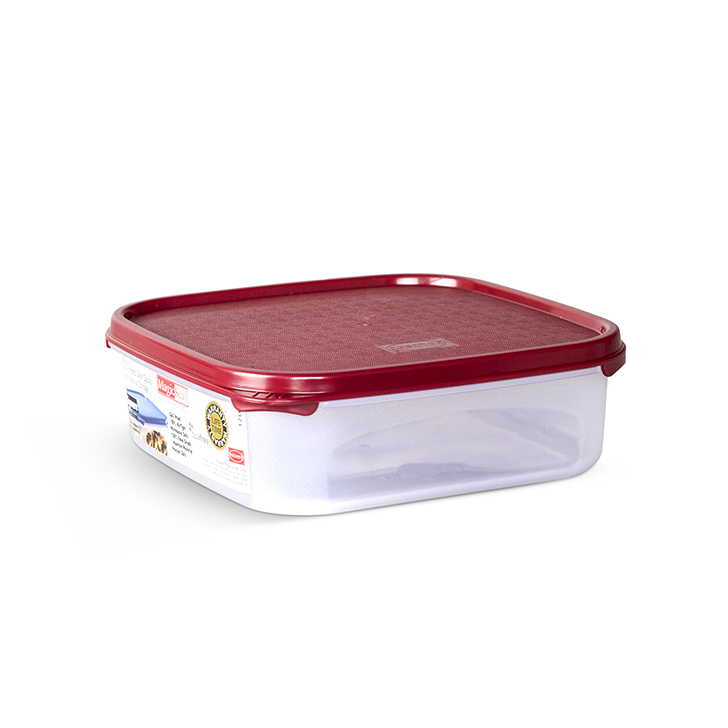 Polyset Magic Seal Container Square Red 1200 ml,Containers