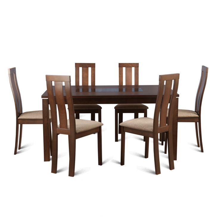 Delton Six Seater Dining Set in Brown Colour,6 Seater Dining Sets
