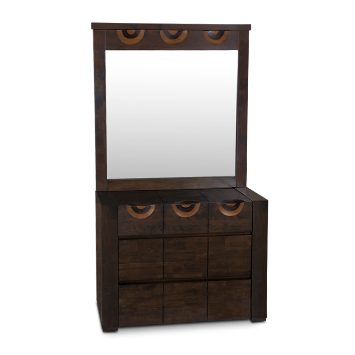 Enrique Dressing Table Wth Mirror in Wenge Colour,Dressing Tables