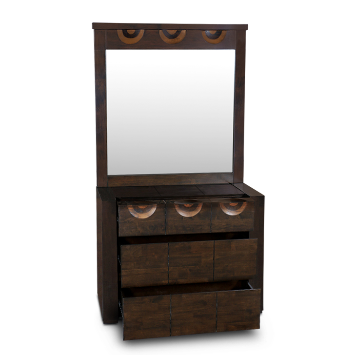 Enrique Dressing Table Wth Mirror in Wenge Colour,Bedroom Furniture