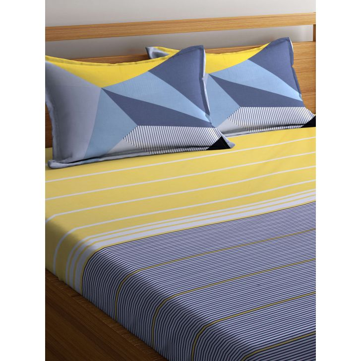 Portico Verve Bedsheet Multicolour,Double Bed Sheets