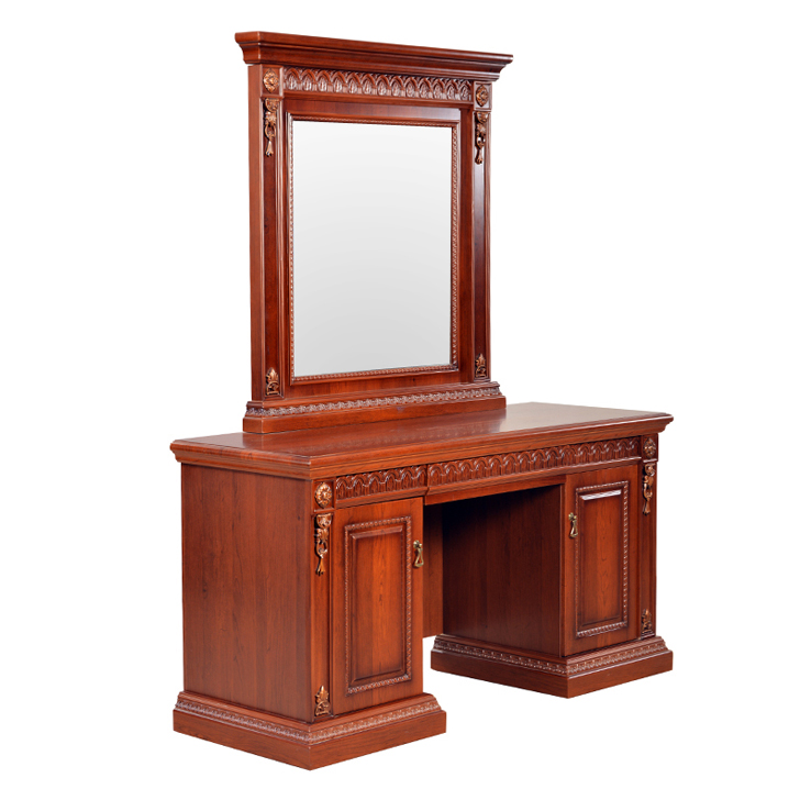 Morrison Red Cherry Dressing Table with Mirror and Stool,Dressing Tables