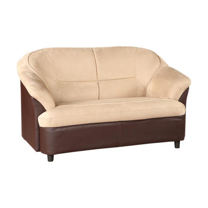 Lamia Pvc/Fab Two Seater Sofa Brown,Furniture