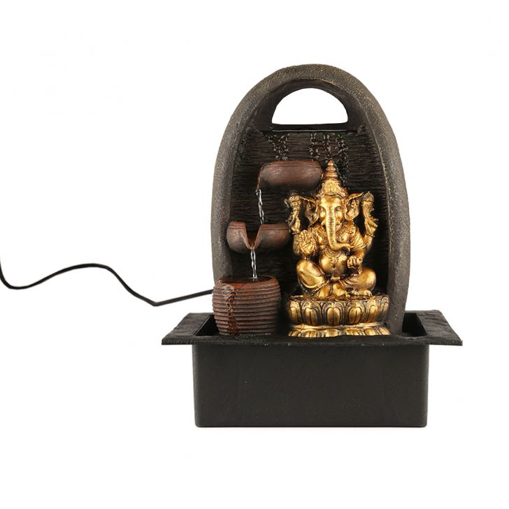 Impression Ganesha White Pot Fountain,Indoor Fountains