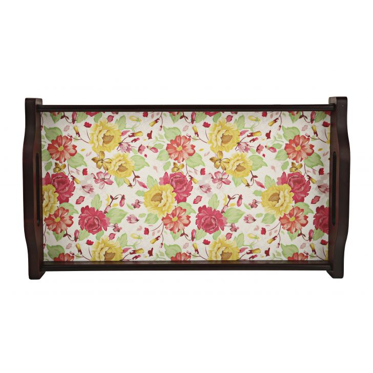 LE English Floral Small Tray,Tableware