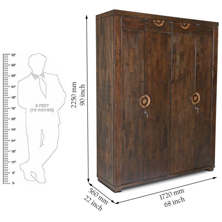 Enrique Four Door Wardrobe Wenge,4 Door Wardrobes