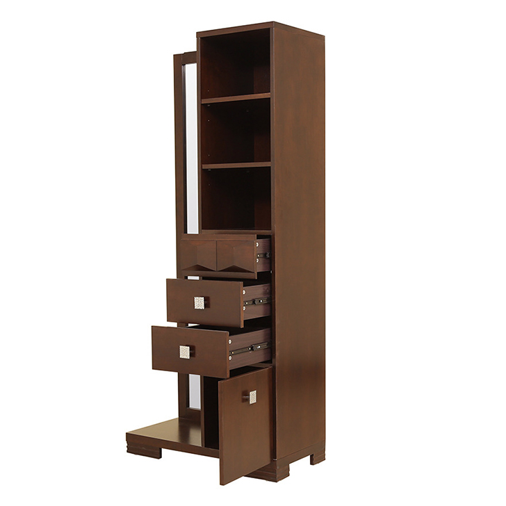 Amelia Solidwood Dresser with Mirror in Brown Colour,Bedside Tables
