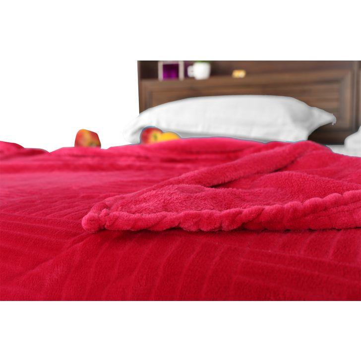 Fleece Blanket 160X220 Checks Berry,Quilts/Blankets