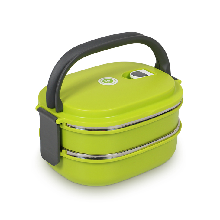 Living Essence 2 Layer Square Stainless Steel Lunch Box,Lunch Boxes