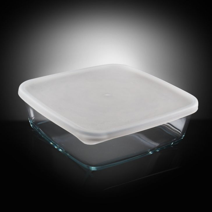 Borosil Baking Dish With Plastic Lid (1.6 Ltr),Muffin & Cupcake Bakeware