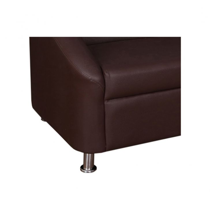 Belfast Leatherette Three Seater Sofa Brown,The Big Summer Sale