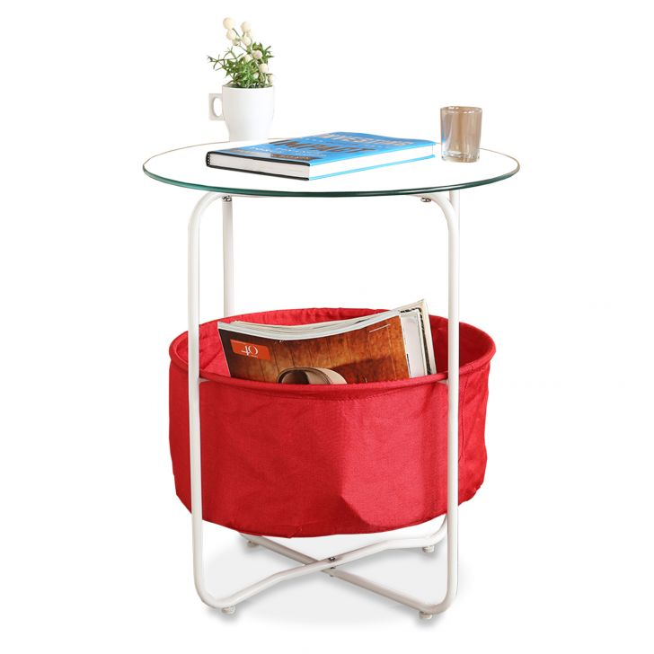 Side Table With Fabric Bag,Side Tables