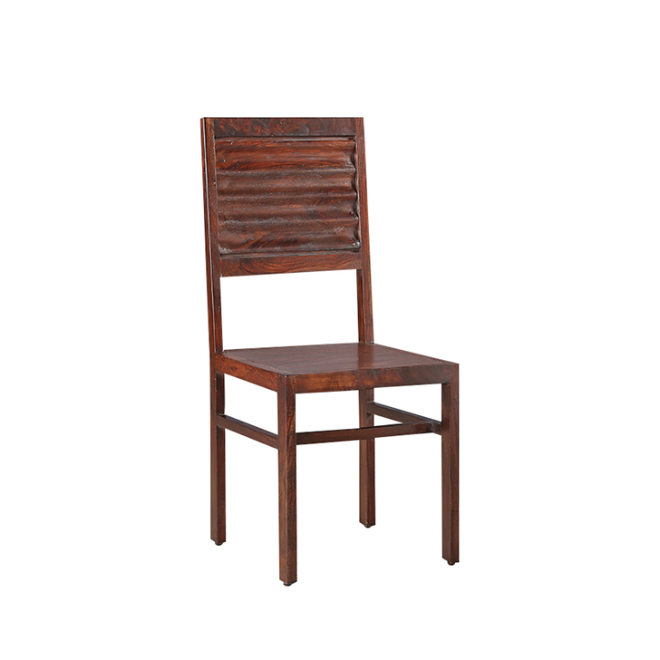 Ripples Dining Chair (Set of 2) in Glossy Nut Brown Finish,Dining Chairs