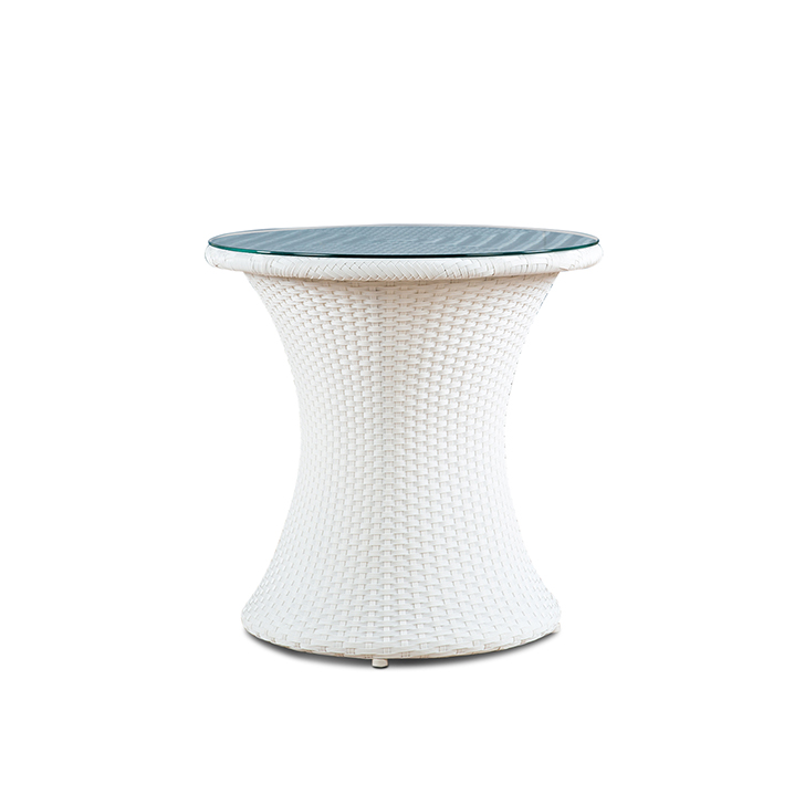 Canna Garden Side Table White And Blue,Garden Furniture