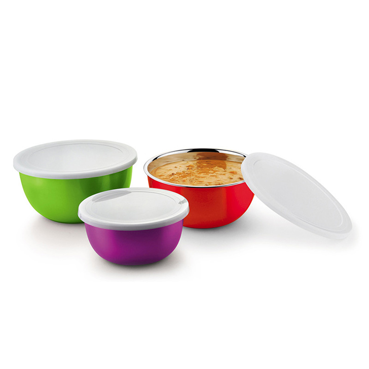 Bonita Microwonder Stainless Steel Bowl Set Multicolor 3 Pcs,Cooking Essentials