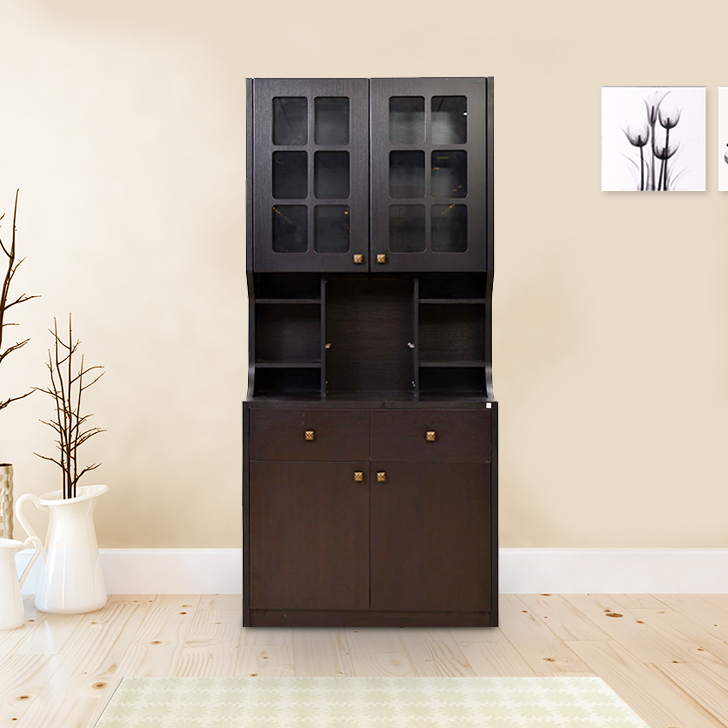 Baru Calino Storage Kitchen Cabinet in Wenge Finish,Bar Units