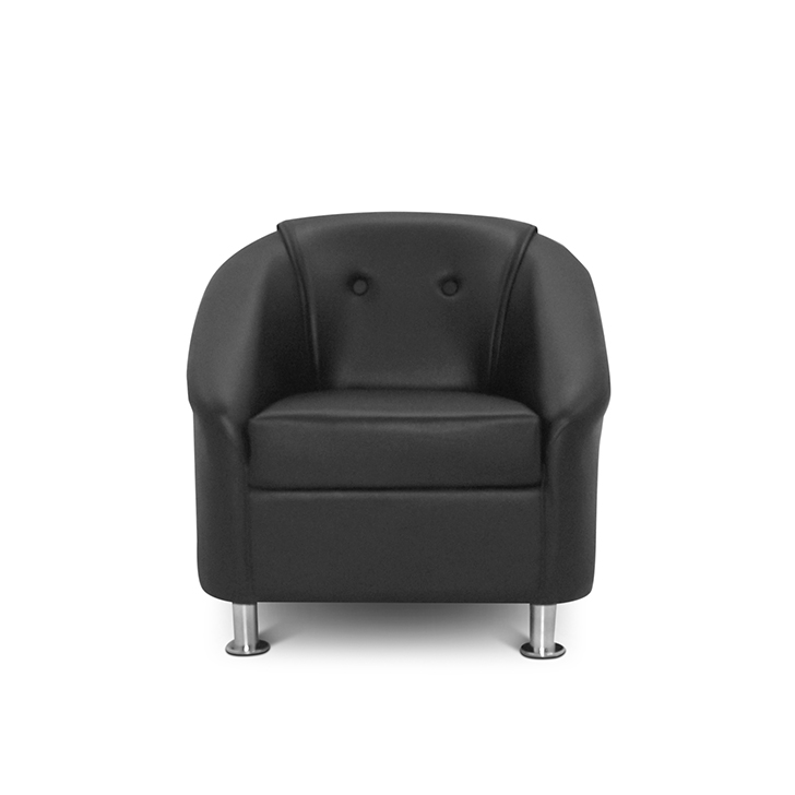 Buy Belfast Single Seater Sofa Black Online In India
