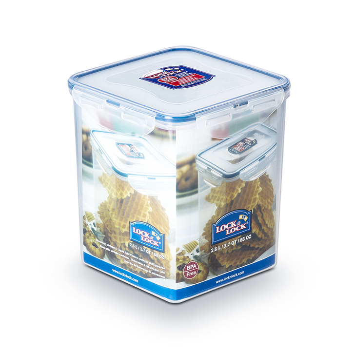 Lock & Lock Classics Tall Square Food Container 2600 ml,Containers