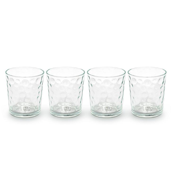 Gibson USA Bubbles Glassware Juice Tumbler Transparent 385 ml 4 Pcs,Glasses & Tumblers