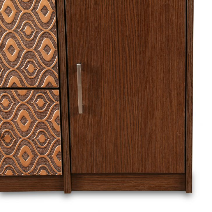 Nebula Dressing Table with Mirror in Coffe Brown Finish,Bedroom Furniture
