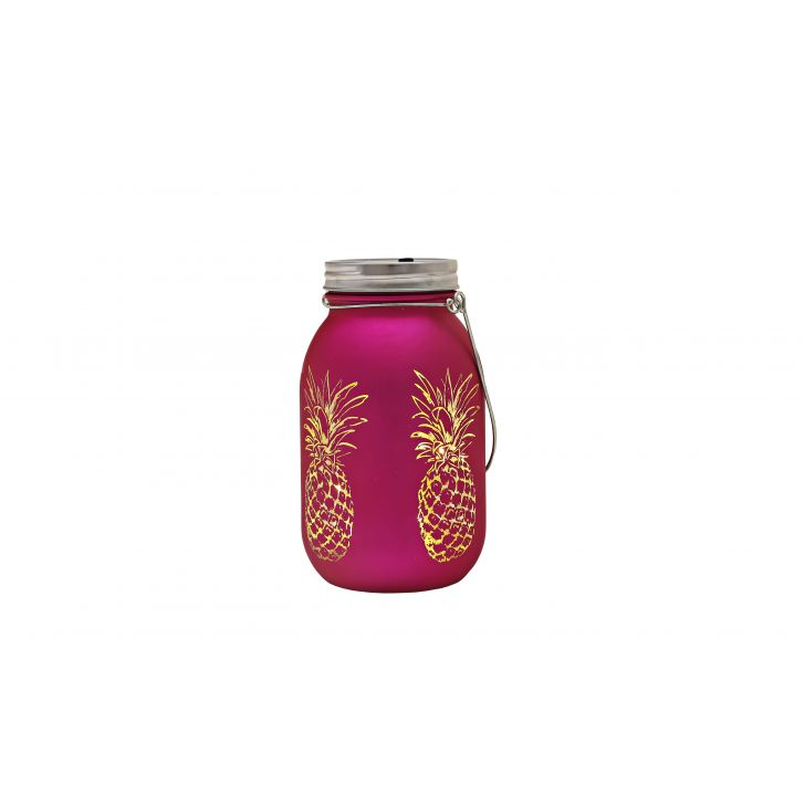 Venus Pineapple Cutout Mason Jar Pink,Lamps & Lighting