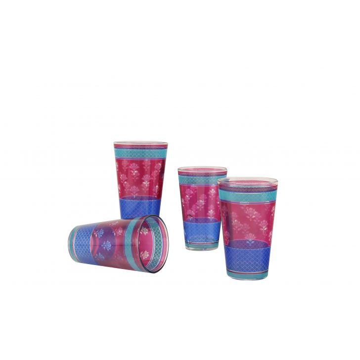 Vrindavan Tumblers Set Of Four,Drinkware