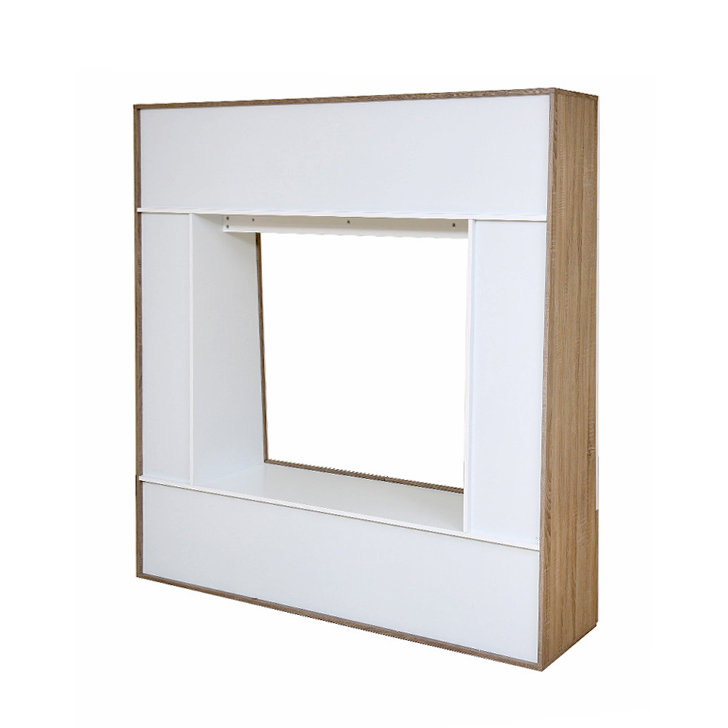 Daisy Wall TV Unit in Light Oak & White Finish,Wall & Entertainment Units