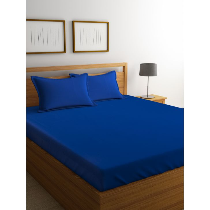 Portico Percale Bedsheet Seaport,Double Bed Sheets