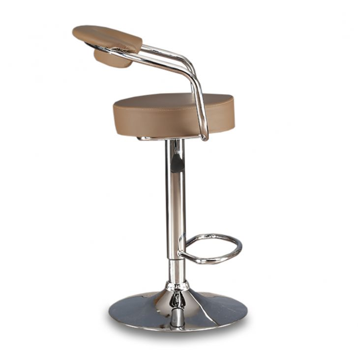 Nook Bar Stool in Brown Leatherette,Swivel