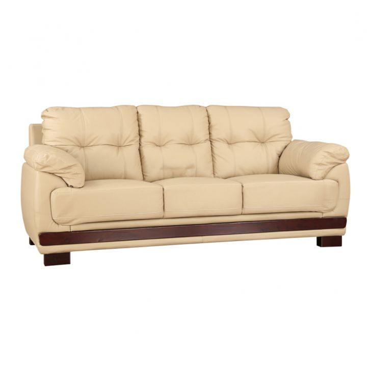 Gilbert Half Leather Three Seater Sofa,Sofas & Sectionals