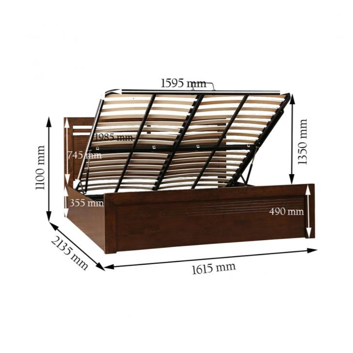 Stanford Solidwood Queen Bed Wth Hydraulic Storage,Hydraulic Beds