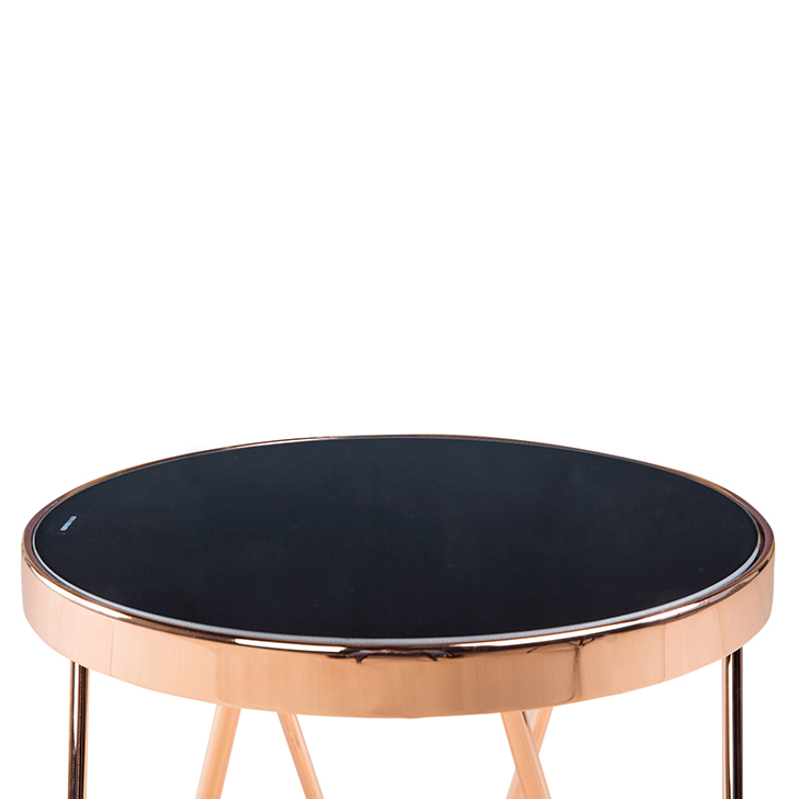 Lucas Small End Table in Black & Copper Colour,Side Tables