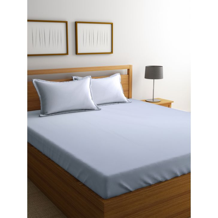 Portico Percale Bedsheet White,Double Bed Sheets